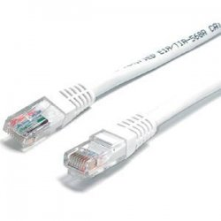 StarTech - M45PATCH10WH - StarTech.com 10 ft White Molded Cat5e UTP Patch Cable - Category 5e - 10 ft - 1 x RJ-45 Male Network - 1 x RJ-45 Male Network - White