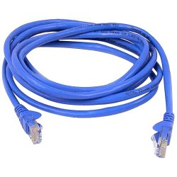 Belkin / Linksys - A3L791B07-BLU-S - Belkin 7ft CAT5e Ethernet Patch Cable Snagless, RJ45, M/M, Blue - Patch cable - RJ-45 (M) to RJ-45 (M) - 7 ft - UTP - CAT 5e - molded, snagless - blue - B2B - for Omniview SMB 1x16, SMB 1x8, OmniView SMB CAT5 KVM