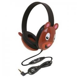 Ergoguys - 2810-be - Ergoguys Kids Stereo PC Bear Design Headphone - Wired Connectivity - Stereo - Over-the-head