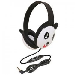 Ergoguys - 2810-pa - Ergoguys Califone Kids Stereo/PC Headphone Panda 3.5mm Plug - Wired Connectivity - Stereo - Over-the-head