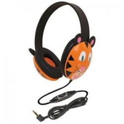 Ergoguys - 2810-ti - Ergoguys Califone Kids Stereo/PC Headphone Tiger PC 3.5mm - Wired Connectivity - Stereo - Over-the-head