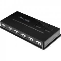 Aluratek - AUH1210F - Aluratek 10-port USB Hub - USB - External - 10 USB Port(s) - 10 USB 2.0 Port(s)