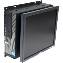 Rack Solution - 104-2323 - Rack Solutions Wall Mount for Flat Panel Display, Desktop Computer - 50 lb Load Capacity - Black Powder Coat