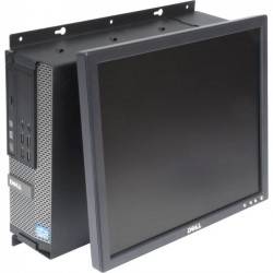 Rack Solution - 104-2324 - Rack Solutions Wall Mount for Flat Panel Display, Desktop Computer - 50 lb Load Capacity - Black Powder Coat