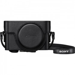Sony - LCJRXF/B - Sony Premium LCJ-RXF Carrying Case for Camera - Black - Scratch Resistant, Impact Resistant, Dust Proof - Polyurethane - SONY Logo - Shoulder Strap - 4.5 Height x 3.1 Width x 2 Depth