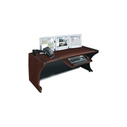 Middle Atlantic Products - LD4830DC - Middle Atlantic Products LCD Monitoring/Command Desk - 30 Height x 48 Width - Dark Cherry