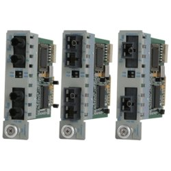 Omnitron - 8440-0-W - Omnitron Systems iConverter 2Fx Transceiver - 2 x ST Ports - 100Base-FX - Internal