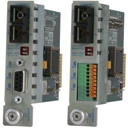 Omnitron - 8767-1 - iConverter RS-232 Serial Fiber Media Converter DB-9 LC Single-Mode 30km Module - 1 x RS-232; 1 x LC Single-Mode; Internal Module; Lifetime Warranty