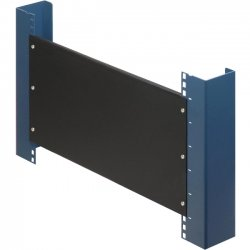 Rack Solution - 102-1822 - Rack Solutions 1U Filler Panel with Stability Flanges - Steel - Black - 1 Pack