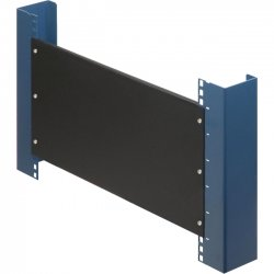 Rack Solution - 102-1823 - Rack Solutions 2U Filler Panel with Stability Flanges - Steel - Black - 1 Pack