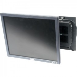 Rack Solution - 104-2380 - Rack Solutions Wall Mount for Flat Panel Display, Thin Client - Black Powder Coat