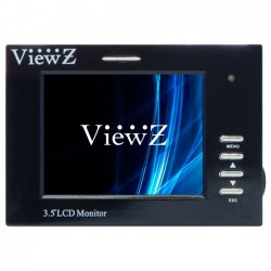 ViewZ - VZ-35SM - ViewZ VZ-35SM 3.5 LCD Monitor - 4:3 - 25 ms - 320 x 240 - 16.7 Million Colors - 250 Nit - 350:1 - QVGA - 4.05 W - Black