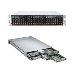 Supermicro - AS-2122TG-HTRF - Supermicro A+ Server 2122TG-HTRF Barebone System - 2U Rack-mountable - AMD SR5670 Chipset - 4 Number of Node(s) - Socket G34 LGA-1944 - 2 x Processor Support - Black - 256 GB DDR3 SDRAM DDR3-1600/PC3-12800 Maximum RAM Support