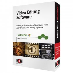 NCH Software - RET-VPW001 - NCH Software VideoPad - Video Editing - CD-ROM - English, Spanish - PC