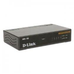 D-Link - DES-105 - D-Link DES-105 5-Port 10/100 Unmanaged Metal Desktop Switch - 5-Port 10/100 Unmanaged Metal Desktop Switch