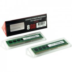VisionTek - 900424 - Visiontek 2 x 4GB PC3-10600 DDR3 1333MHz 240-pin DIMM Memory Module - 8 GB (2 x 4 GB) - DDR3 SDRAM - 1333 MHz DDR3-1333/PC3-10600 - 1.50 V - Non-ECC - Unbuffered - 240-pin - DIMM