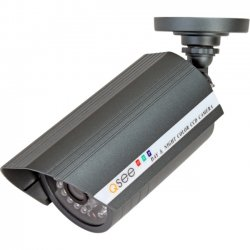 Q-See - QSC1352W - Weatherproof Ccd Camera With 520tv Line Resolution 60ft Night Vision