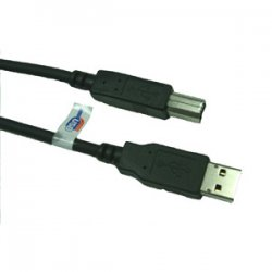 CP Tech / Level One - CP-USB2-AB-6FT - ClearLinks CP-USB2-AB-6FT USB 2.0 6FT Hi Speed A to B Male/Male Cable - Type A Male USB - Type B Male USB - 6ft