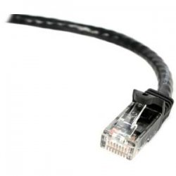 StarTech - N6PATCH3BK - StarTech.com 3 ft Black Snagless Cat6 UTP Patch Cable - ETL Verified - Category 6 - 3 ft - 1 x RJ-45 Male - 1 x RJ-45 Male - Black