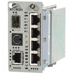 Allied Telesis - AT-CM70S - Allied Telesis T1/E1 Media Converter line card - 1 x 10/100Base-TX, 4 x T1/E1 - 1 x SFP (mini-GBIC)