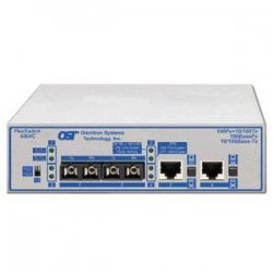 Omnitron - 6540-3-FK - Omnitron Systems FlexSwitch 600XC 2Fx+2U Compact Ethernet Switch - 2 x 100Base-LX, 2 x 10/100Base-TX