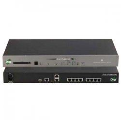 Digi International - 70002266 - Digi Passport 4-Port Console Server with Modem - 4 x RJ-45 , 2 x RJ-45 , 1 x RJ-11 , 1 x
