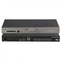 Digi International - 70002270 - Digi Passport 16-Port Console Server with Modem - 16 x RJ-45 , 2 x RJ-45 , 1 x RJ-11 , 1 x