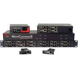 IMC Networks - 851-10908 - Mediaconverter/8 Unmanaged 8-slot Tabletop Chassis Fixed Ac-pw