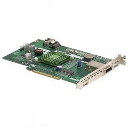 Supermicro - AOC-USAS-L4I - Supermicro 8 Port SAS RAID Controller - 16MB SDRAM - PCI Express - Up to 300MBps Per Port - 1 x SAS x4 SAS 300 - Serial Attached SCSI External, 1 x SAS x4 SAS 300 - Serial Attached SCSI Internal