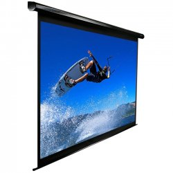 "Elite Screens - VMAX113UWS2 - Elite Screens VMAX113UWS2 VMAX2 Ceiling/Wall Mount Electric Projection Screen (113"" 1:1 Aspect Ratio) (MaxWhite) - 80"" x 80"" - Matte White - 113"" Diagonal"