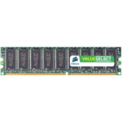 Corsair - VS1GB333 - Corsair 1GB DDR SDRAM Memory Module - 1GB (1 x 1GB) - 333MHz DDR333/PC2700 - Non-ECC - DDR SDRAM - 184-pin