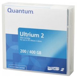 Quantum - MR-L2MQN-BC - Quantum LTO Ultrium 2 Prelabeled Tape Cartridge - LTO Ultrium LTO-2 - 200GB (Native) / 400GB (Compressed)