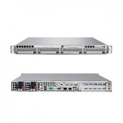 Supermicro - SYS-5015M-NTRV - Supermicro SuperServer 5015M-NTRV Barebone System - Intel 3010 - LGA775 Socket - Xeon (Quad-core), Xeon (Dual-core) - 1066MHz, 800MHz, 533MHz Bus Speed - 8GB Memory Support - DVD-Reader (DVD-ROM) - Gigabit Ethernet - 1U Rack