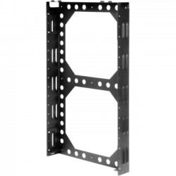 "Rack Solution - 2URACK-116 - Rack Solutions 2U Secure Wallmount Rack - 19"" 2U Wide Wall Mountable for LAN Switch - Black Powder Coat - 150 lb x Maximum Weight Capacity"