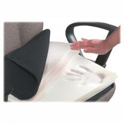 Master Caster - 91061 - Master Mfg. Co The ComfortMakers Seat/Back Cushion, Deluxe, Adjustable, Black - 17w x 17-1/2h x 2-3/4d, Polyurethane and Memory Foam Inserts, 1/Each