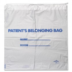 Medline - NON026310 - Medline Carrying Case for Patient Belonging - White - Plastic - Handle - 18 Height x 20 Width x 4 Depth