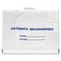 Medline - NON026320 - Medline Carrying Case for Patient Belonging - White - Plastic - Handle - 18 Height x 20 Width x 4 Depth