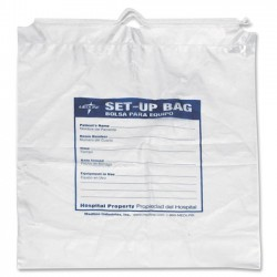 Medline - NON026370 - Medline Respiratory Patient Set-Up Bag - 16 Width x 12 Length x 4 Depth - Clear, Blue - 500/Carton