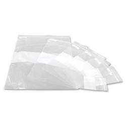 Medline - NONZIP912 - Medline Plastic Zip Closure Bags with White Write-On Block - 9 Width x 12 Length x 2 mil (51 Micron) Thickness - Clear - Plastic - 1000/Carton
