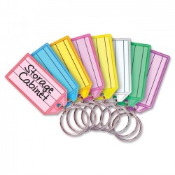 MMF Industries - 201400747 - MMF Multi-colored Key Tag Replacements - 0.8 x 2.3 x 0.3 - 4 / Pack - Assorted