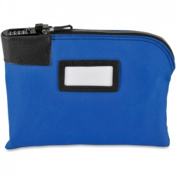 MMF Industries - 2330881MXW08 - MMF Combination Lock Security Bag - 8.50 Width x 11 Length x 1 Depth - Blue - Vinyl, Metal - 1Each - Currency