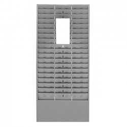 MMF Industries - 27018JTRGY - MMF Time Card 54 Pocket Message Racks - 54 Compartment(s) - 5 - 30 Height x 13.6 Width x 2 Depth - Wall Mountable - Recycled - Gray - Steel, Aluminum - 1Each