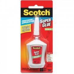 3M - AD125 - Scotch Super Glue Gel in Precision Applicator, .14 oz - 0.14 oz - 1 / Each - White