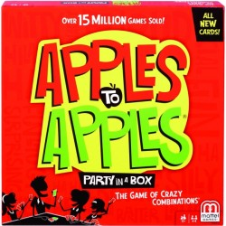 Mattel - BGG15 - Mattel Apples to Apples Party in a Box - The Game Of Hilarious Comparisons - Contains Topical and Pop Culture References - Family and Friend Game