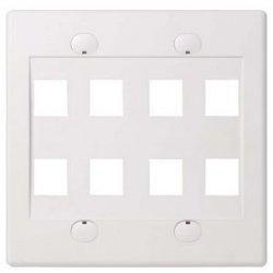 Belkin / Linksys - F4E469-8-WHT - Belkin 8 Socket Faceplate - 8 x Socket(s) - 2-gang - White