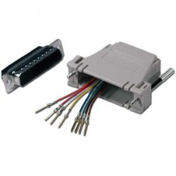 QVS - CC342 - QVS DB25 Male to RJ45 Female Serial/Terminal Modular Adapter - 1 x DB-25 Male - 1 x RJ-45 Female