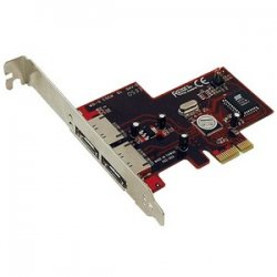 Addonics Technologies - ADSA3GPX1-2E - Addonics 2 Port eSATA II RAID Controller - PCI Express x1 - Up to 300MBps Per Port - 2 x 7-pin Serial ATA/300 - External SATA