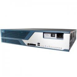 Cisco - C3825-VSEC/K9-RF - Cisco 3825 Integrated Services Router Bundle - 2 x Network Module, 4 x HWIC, 4 x PVDM, 1 x SFP, 2 x AIM, 1 x CompactFlash (CF) Card - 2 x 10/100/1000Base-T LAN, 2 x USB