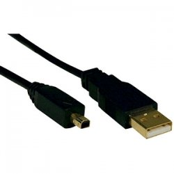 Tripp Lite - U029-006 - Tripp Lite 6ft USB 2.0 Gold Device Cable A Male / 4Pin Round Mini-B Male - (A to 4Pin Round Mini-B M/M) 6-ft.