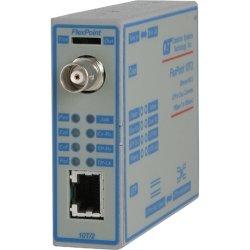 Omnitron - 4320-0-W - Omnitron Systems FlexPoint 10T/2 Media Converter - 1 x Network (RJ-45) - 10Base-2, 10Base-T - Wall Mountable, Rail-mountable, Rack-mountable